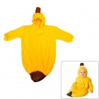 Banana Style Baby's Pure Cotton + Single-Layer Fleece Sleeping Bag - Yellow + Brown