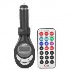 "LSON 1.0"" LCD Multi-Function Car MP3 Player FM Transmitter + IR Remote Controller - Black (SD / USB)"