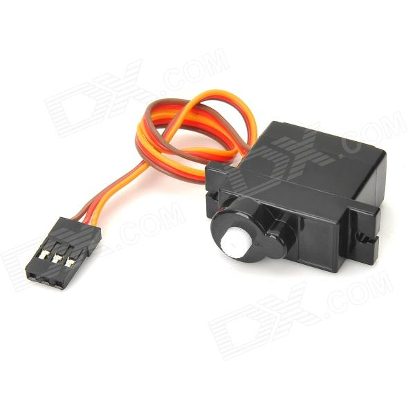9g Plastic POM Gear Analog Servo for RC Model Toy - Black (DC 4.8~6V)