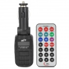 "1.0"" LCD Multi-Function Car MP3 Player FM Transmitter + IR Remote Controller (SD / USB)"