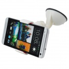 TJ-P1203 Desktop Car Holder Stand w/ Flexible Tube + Clip for Iphone / GPS + More - White + Black