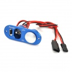 Kosta R/C Heavy Duty Single Power Switch w/ Fuel Dot for RC Airplane Engine - Blue (20cm-Cable)