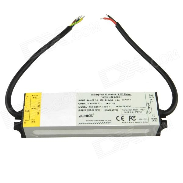 Water Resistant 54W Constant Voltage Source Power LED Driver (100~240V) jlnke jkf60 waterproof 2 5a 60w constant voltage power source led driver grey 100 240v