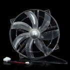 Large White Light CPU Plastic Cooling Fan - Translucent (12V)