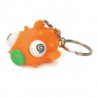 Pop Out Eyes Stress Reliever Relief Squeeze Fish Doll Toy Keychain - Orange