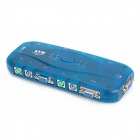k104 4-Port Auto VGA/PS2 KVM Switch w/ Cables Set - Translucent Blue