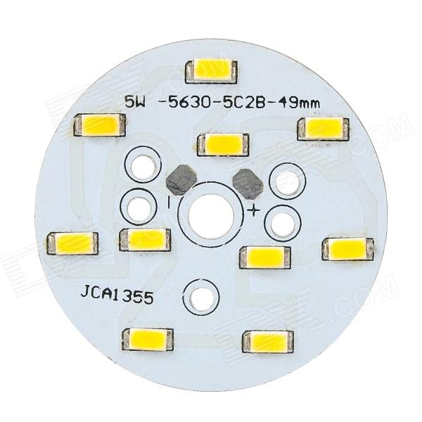 C123456 5W 550lm 3500K 10-SMD 5730 LED Warm White Bulb Aluminum Plate - White + Orange 10pcs led aluminum plate 40mm for 5w 5730 smd heat sink