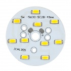 C123456 5W 550lm 3500K 10-SMD 5730 LED Warm White Bulb Aluminum Plate - White + Orange