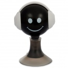 Smile Style 3.5mm Earphone Splitter Adapter w/ Suction Cup for Iphone + More - Black + White