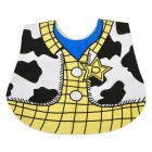 Milk Cow Style Cute Cotton Baby's Bib - Yellow + Blue + White