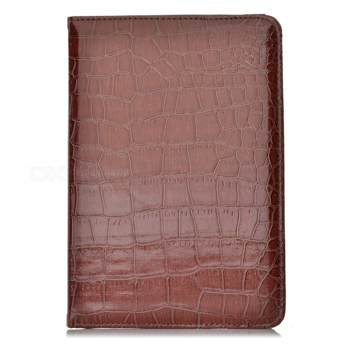 360 Degree Rotatable Alligator Pattern PU Leather Case for Ipad MINI - Brown