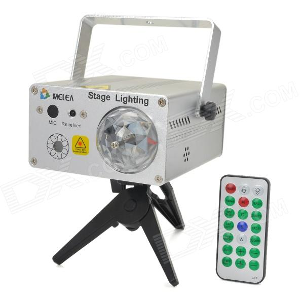 S014 Red + Green + Blue + Yellow Light 1W LED Laser Stage Lighting - Silver (US Plug / 110~240V) турник пресс брусья bronze gym h 027