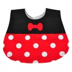 Bow-Knot and Dot Pattern Cute Pure Cotton Baby's Bib - Black + Red + White