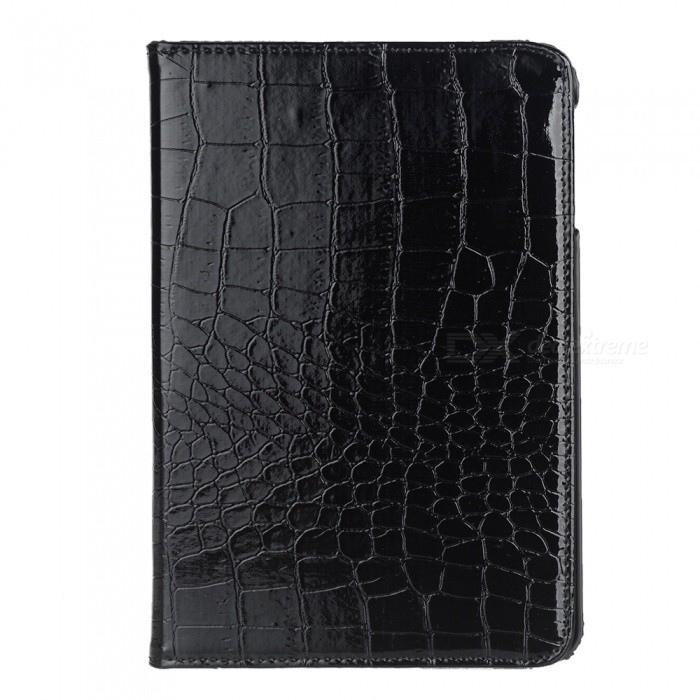 360 Degree Rotatable Alligator Pattern PU Leather Case for Ipad MINI - Black sleeping owl pattern 360 degree rotating pu leather full body case w stand for ipad mini 1 mini 2