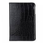 360 Degree Rotatable Alligator Pattern PU Leather Case for Ipad MINI - Black