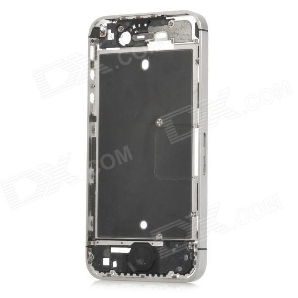 Replacement Middle Housing Frame for Iphone 4S - Silver + Black halloween plastic skeleton frame hanging decoration silver black 4 pcs