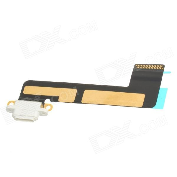 Replacement DIY Charging Connector Flex Cable for Ipad MINI - Black + White + Golden replacement charging tail plug connector flex cable for iphone 6 4 7 black blue multi colored