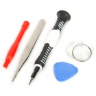 6-in-1 Repair Opening Tool Kit for iPhone 5 - Red + Black + Blue + White