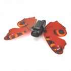 Solar Powered Flapping Butterfly Toy - Red + Black