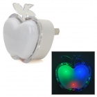 YJ-101 Cute Apple Shape 1W 3-LED RGB Light Lamp - White (US Plug / 100~240V)