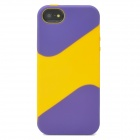 Protective Silicone Soft Back Case for Iphone 5 - Purple + Yellow