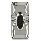 Cool 3D Spider Hollow Out Style Protective Plastic Back Case for Iphone 5 - Black + Silver