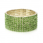 Stylish CrystalTitanium Alloy Bracelet - Green