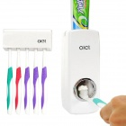 Olet HQS-Y34659 Automatic Toothpaste Dispenser w/ Toothbrush Holder - White