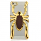 Cool 3D Spider Hollow Out Style Protective Plastic Back Case for Iphone 5 - Golden + Brown