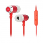 Gorsun GS-C281 Stereo-In-Ear-Ohrhörer w / Mikrofon - Red + Silber (3,5 mm Klinkenstecker / 1,2 m)