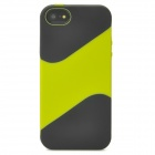 Protective Silicone Soft Back Case for iPhone 5 - Black + Glass Green