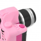 DSLR Lens Shaped LED Keychain - Deep Pink + Pink + Black + Silver (3 x AG13)