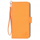 Protective PU Leather Case w/ Strap for Iphone 5 - Orange