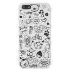 Cute Scrawl Pattern Protective PC Hard Back Case for Iphone 5 - Black + White