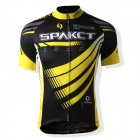 SPAKCT S13C01 Short Sleeve Men's Cycling Clothes - Black + Yellow (Size XL)