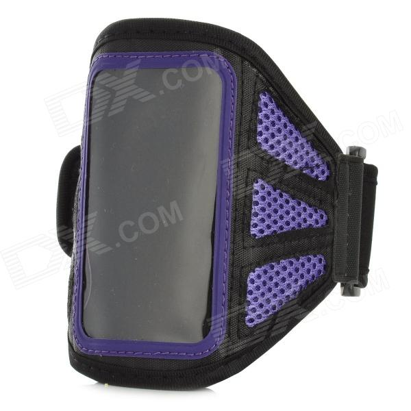 Stylish Sports Outdoor Armband for Ipod Touch 5 - Purple + Black