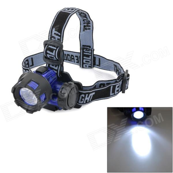 где купить 90 Degrees Rotation 3W 80lm White Light LED Night Fishing Headlamp - Blue + Black (3 x AAA) дешево