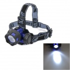 90 Degrees Rotation 3W 80lm White Light LED Night Fishing Headlamp - Blue + Black (3 x AAA)