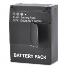 Replacement 3.7V 1050mAh Battery Pack for GOPRO HD HERO3 Camera - Black