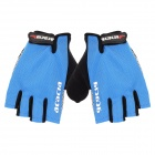 ACACIA 0375009 Stylish Half-Finger Mercerized Cotton Riding Gloves - Blue + Black (Size L)