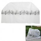 Rainproof Dustproof Polyester Cover for Motorcycle / Bicycle - White + Black (Size L)