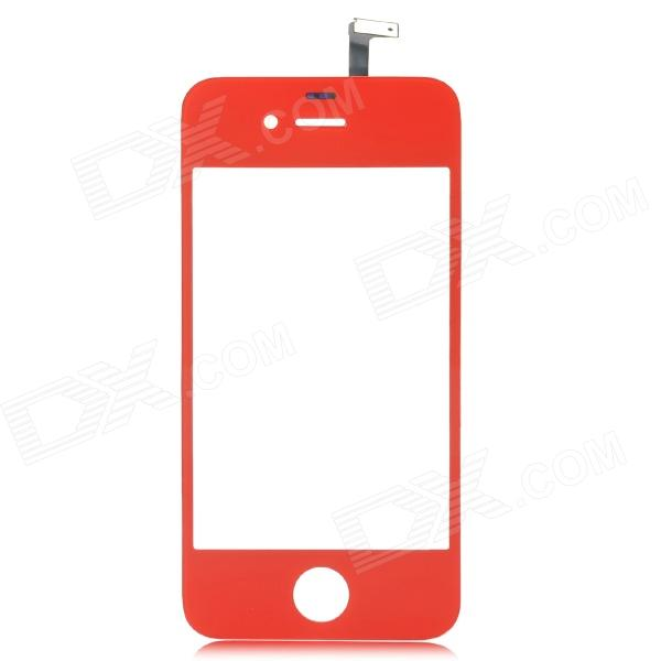 Replacement Glass Touch Screen Digitizer for iPhone 4 - Red