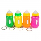 Feeding Bottle Shaped LED Keychain - Orange + Purple + Yellow + Green (3 x LR41 / 4 PCS)
