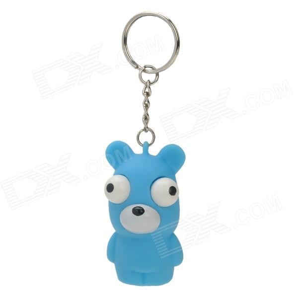 Stress Reliever Relief Squeeze Bear Doll Toy Keychain - Sky Blue