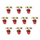 JY029 Big Mouth to Scream Pattern Motorcycle / Car Decoration Sticker (10 PCS)
