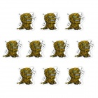 JY029 Ghost Head Pattern Motorcycle / Car Decoration Sticker (10 PCS)