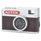 A8 Retro CMOS 3.0MP Mini Digital DV Camera w/ TF Slot - Dark Brown + Silver