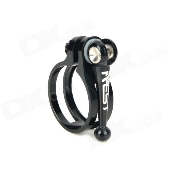 AEST YSCL-08 34.9mm Aluminum Alloy Bicycle Seat Post Clamp - Black