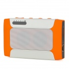 YH-013 Multi-Function 2500mAh Power Bank + Bluetooth v2.1 Speaker w/ TF / Wi-Fi - Orange + White