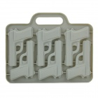 Creative Gun Shape 6-Component Ice Tray Module - Grey